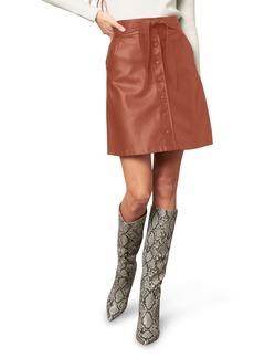 BB Dakota Belt So Real Faux Leather Skirt