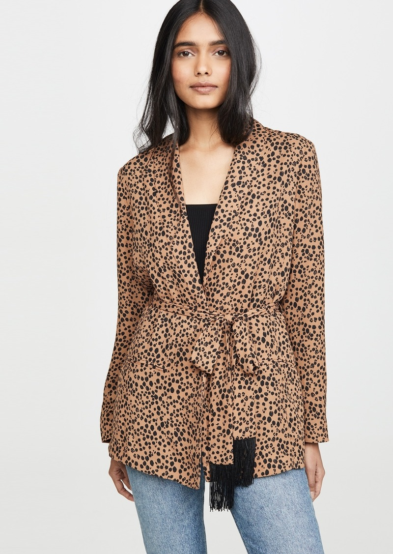 BB Dakota Belted Cheetah Print Blazer