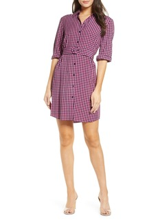 BB Dakota Belted Gingham Shirtdress