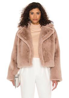 BB Dakota by Steve Madden Big Time Plush Faux Fur Jacket