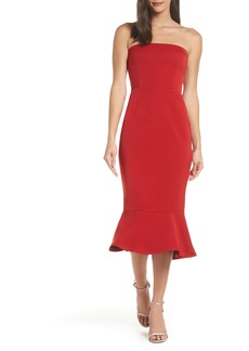BB Dakota Bonded Crepe Strapless Dress