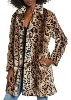 BB Dakota Bradshaw Leopard Spot Faux Fur Coat
