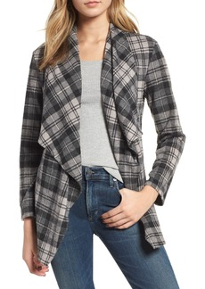 BB Dakota Brave Heart Plaid Knit Jacket