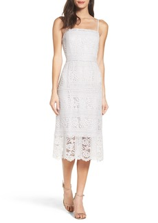 BB Dakota Brianne Floral Lace Midi Dress