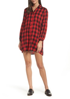 BB Dakota Buffalo Plaid Shirtdress