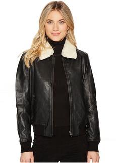 BB Dakota Burgess Sherpa Trim Leather Jacket
