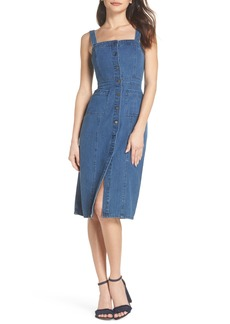 BB Dakota Button Front Denim Dress