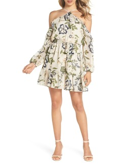 BB Dakota Call Me Maybe Floral Cold Shoulder Dress