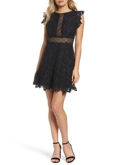 BB Dakota Calvin Lace Fit & Flare Dress
