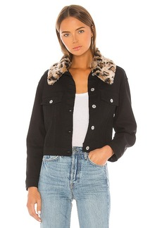 BB Dakota Cant Meow Faux Fur Collar Denim Jacket