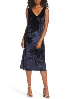 BB Dakota Catrall Velvet Midi Dress