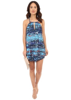 BB Dakota Celeste Refractions Printed Reverse Crepon Dress
