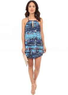 BB Dakota Celeste Refractions Printed Reverse Crepon Dress