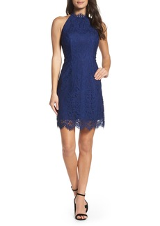 BB Dakota Cherie Lace Halter Sheath Dress