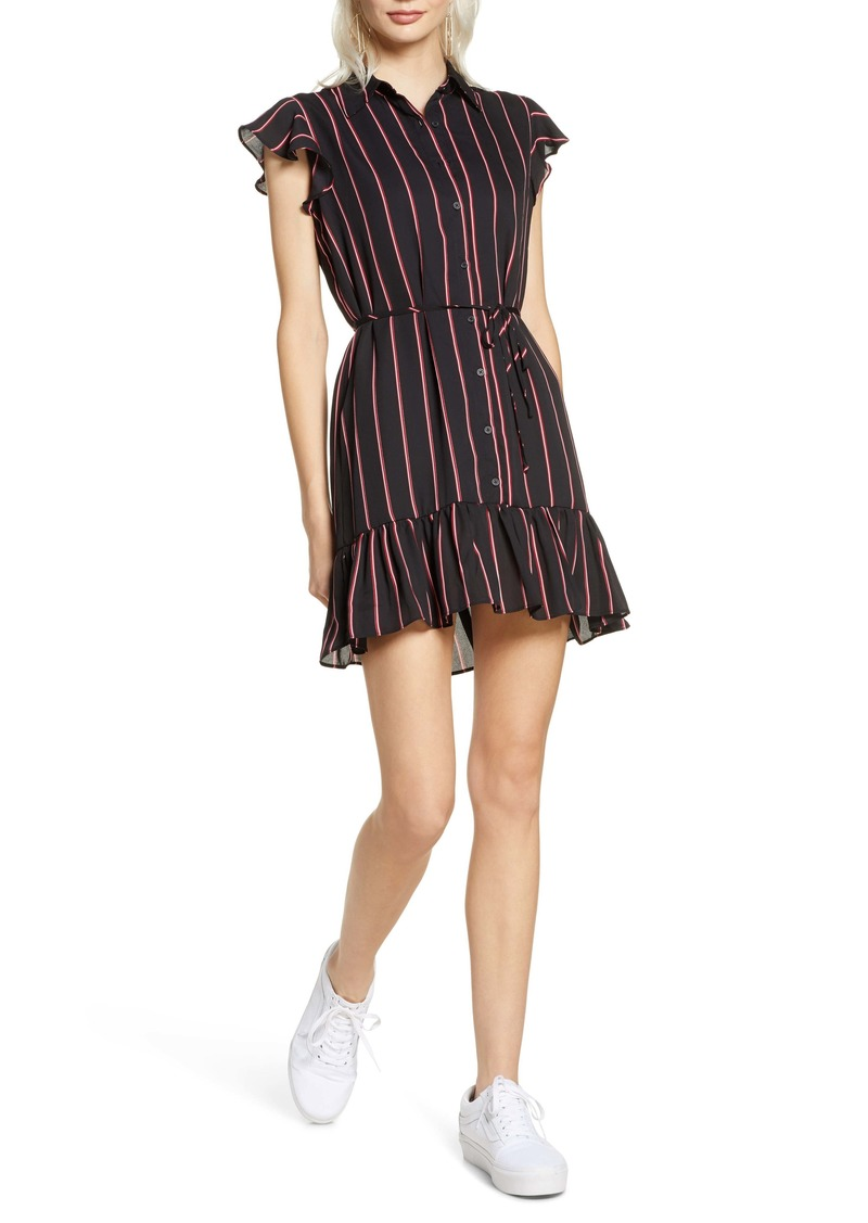 BB Dakota City Lines Stripe Shirtdress