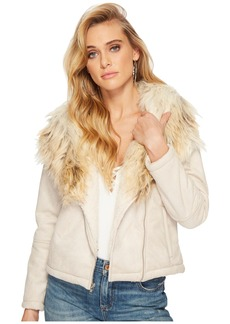 BB Dakota Claver Faux Fur Trim Jacket