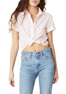 BB Dakota Clipped Dot Crop Shirt