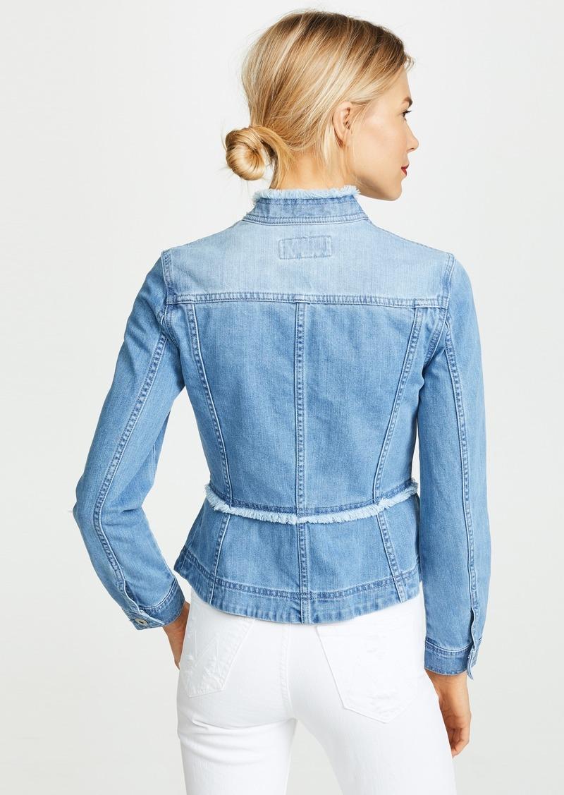BB Dakota Womens Colletta Denim Peplum Jacket