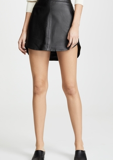 BB Dakota Conrad Leather Miniskirt