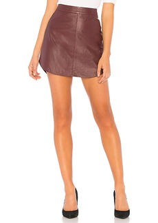 BB Dakota Conrad Leather Skirt