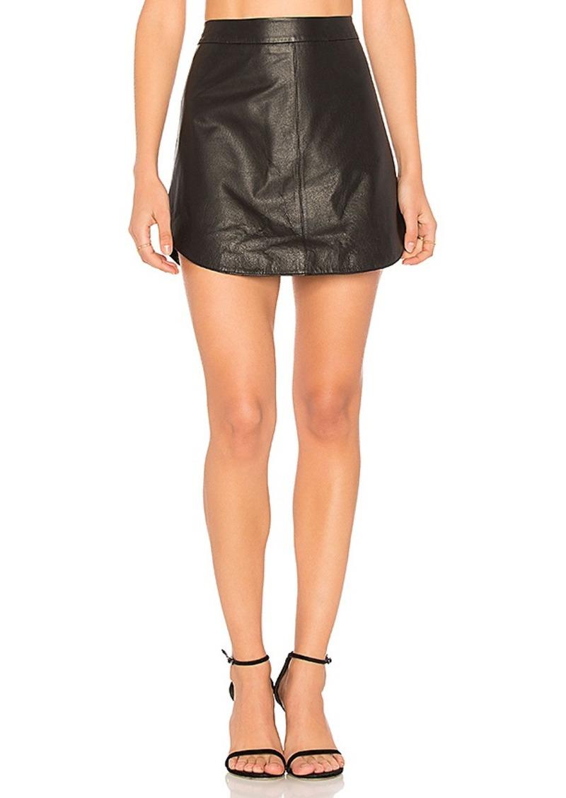 bb dakota bb dakota conrad leather skirt in black size