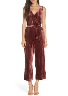 BB Dakota Crinkled Velvet Jumpsuit