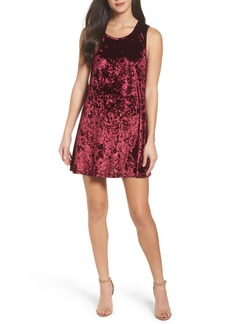 BB Dakota Crushed Velvet Shift Dress