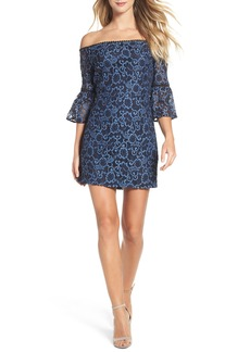 BB Dakota Danlyn Off the Shoulder Lace Minidress