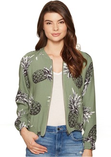 BB Dakota Delaney Printed Bomber Jacket