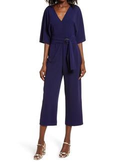 BB Dakota Dolman Sleeve Belted Crop Jumpsuit