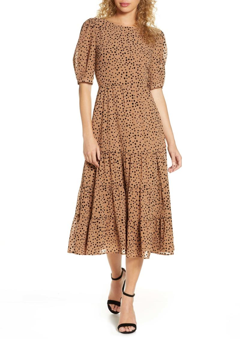 BB Dakota Dot Print Midi Dress
