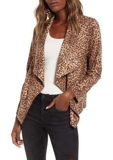 BB Dakota Drape Front Faux Suede Jacket
