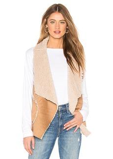BB Dakota Easily Suede Faux Fur Vest