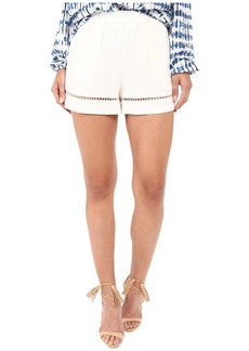 BB Dakota Elastic Waist Pull-On Shorts with Lace Trim