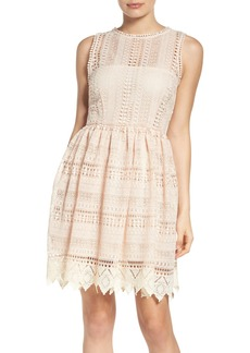 BB Dakota Elissa Lace Fit & Flare Dress