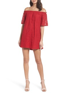 BB Dakota Erica Off the Shoulder Lace Shift Dress