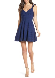 BB Dakota Eyelet You Win Fit & Flare Dress