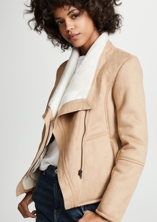 BB Dakota Faux Suede Shearling Jacket