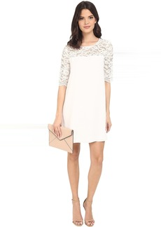 BB Dakota Fisher Lace and Crepe De Chine Dress