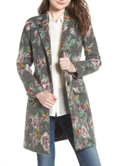 BB Dakota Floral Jacquard Long Blazer