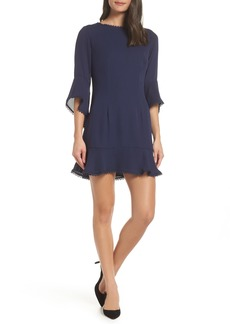 BB Dakota Flounce Hem Crepe Dress