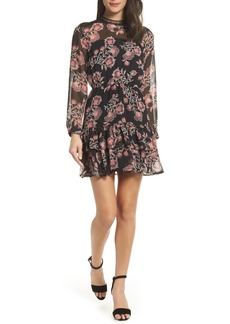 BB Dakota Folk Floral Chiffon Minidress
