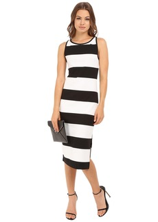 BB Dakota Francesca Striped Ponte Midi Dress