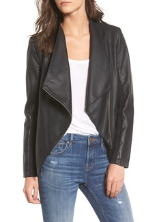 BB Dakota Gabrielle Faux Leather Asymmetrical Jacket