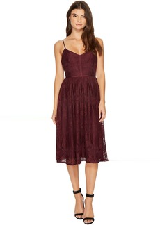BB Dakota Galina Lace Fit & Flare Midi Dress