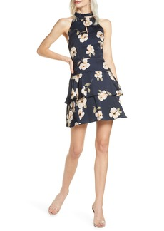 BB Dakota Gardenia Print Sleeveless Fit & Flare Dress