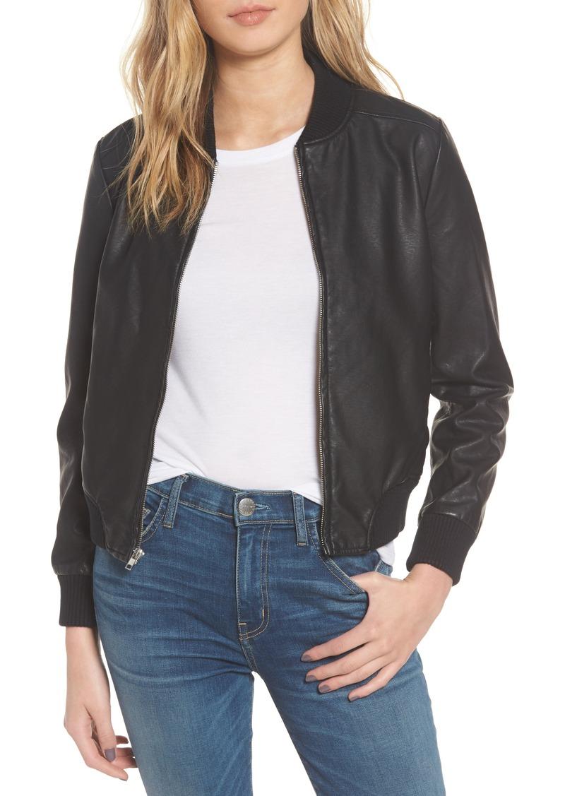 69991bce4ce BB Dakota BB Dakota Gavin Faux Leather Bomber Jacket | Outerwear