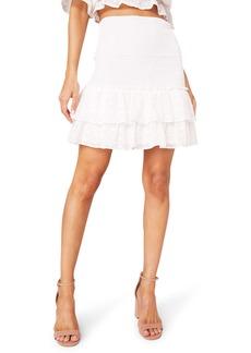 BB Dakota Girl Meets Ruffle Smocked Miniskirt