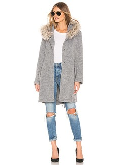 BB Dakota Girls In The Hood Coat With Faux Fur Trim
