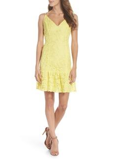 BB Dakota Gisel Ruffle Hem Lace Dress